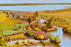 Deladier Almeida Starry Day  Original oil on canvas 80 x120 cm y 2020 by Deladier Almeida