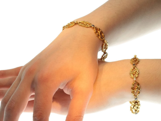 Antique Victorian gold bracelets that can be worn as necklace too by Unknown Artist
