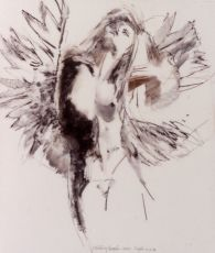 Study Floating Angel 11 by Robert Heindel