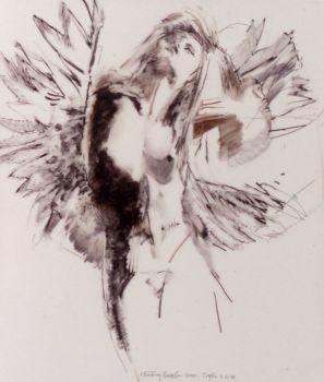 Study Floating Angel 11 by Robert Heindel