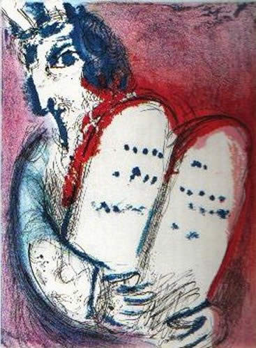 Moise by Marc Chagall