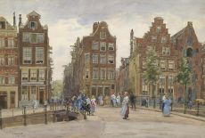 The Geldersekade with the Bantammerbrug, Amsterdam by Felicien Bobeldijk
