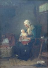 Lady with infant on her lap