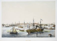 NEW YORK 1850 -BUSTLING WITH ENERGY  by Le Breton, Louis (1818-1866)