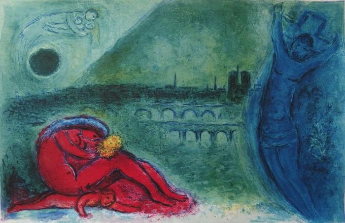 Quai de la Tournelle by Marc Chagall