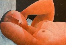 Slapende vrouw by Peter Harskamp