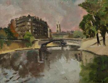 The Seine in Paris by Willem Paerels