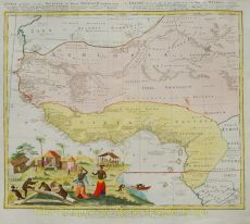 Map of west africa by Homann, Jean Baptiste