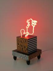 3D-Neon sculpture II by Jozef van der Horst