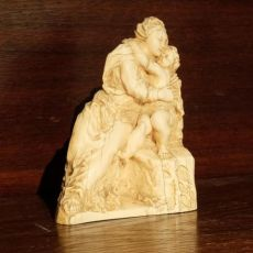 Ivory Madonna and Child by Unknown Artist