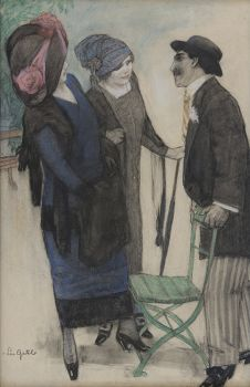 Conversation in the park by Leo Gestel
