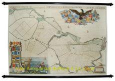 Zeeburg en Diemerdijk wandkaart  by Jan Wandelaar