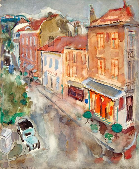 View of a small street in St. Tropez by Jan Sluijters