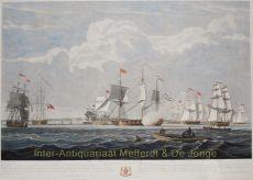 Dutch merchant ships  by  after John Christian Schetky
