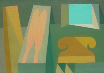 Nude on Sofa by Perdok (Henk Schellevis)