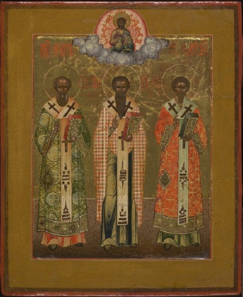 Central Russian icon: The Three Hierarchs by Unknown Artist
