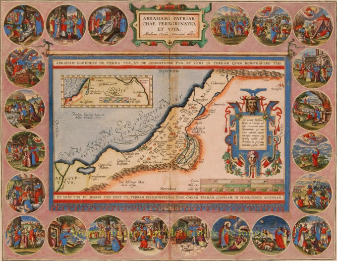 Holy Land by Abraham Ortelius