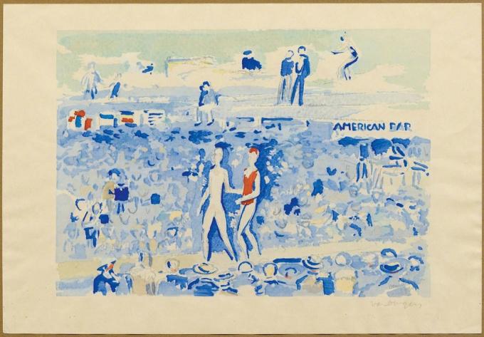 Le Gala du Costume de Bain, Deauville 1930 by Kees van Dongen