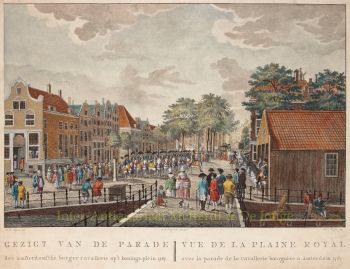 Koningsplein Amsterdam,  naar Jean George Teissier  by  François Joseph Pfeiffer
