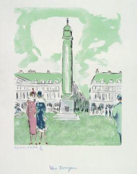 Place Vendôme by Kees van Dongen