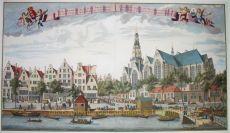Gezicht langs de Bierkay en de Groenmarkt by Leonardus Schenk