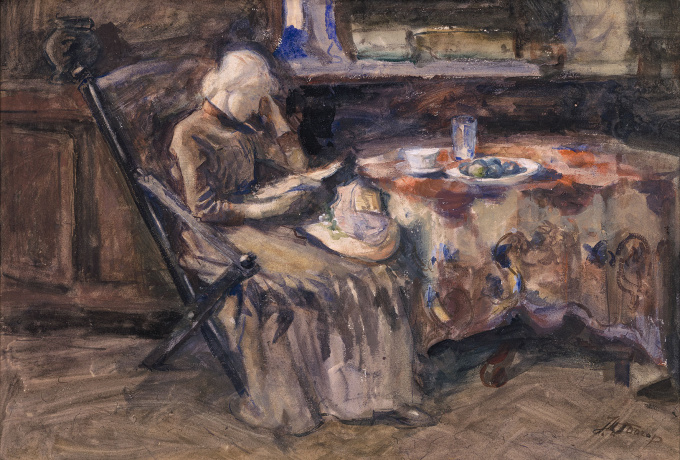 Annie Hall Woman of the Painter, Reading by Jan Toorop
