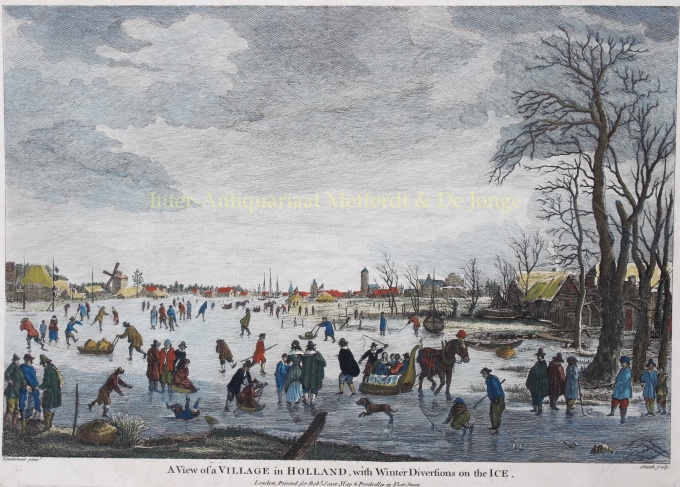 Dutch winter scene, after Aert van der Neer by Unknown Artist