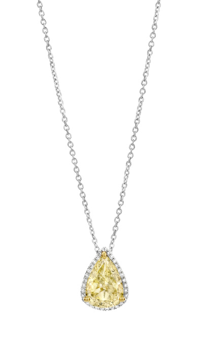 Yellow Diamond Pendant by Baskania