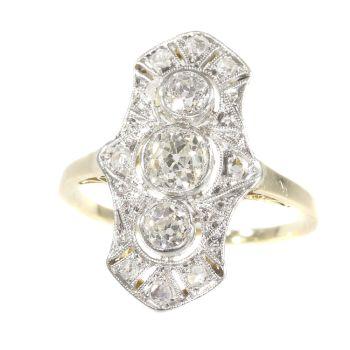 Original Vintage Belle Epoque diamond engagement ring by Unknown Artist