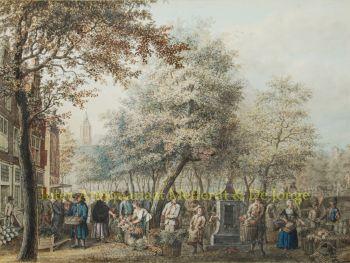 The Hague, vegetable market  by  Maria Margaretha de la Fargue