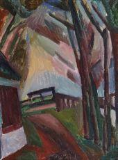 Landscape Bergen by Leo Gestel