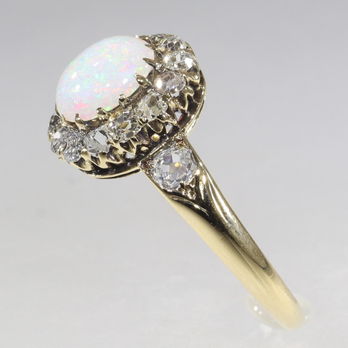 Victorian diamond and opal ring by Unknown