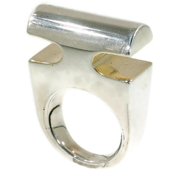 Artist Jewelry Chris Steenbergen silver and gold ring by Chris Steenbergen