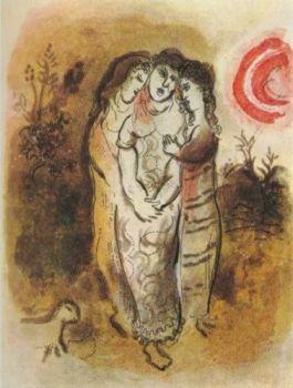Noemi et ses Belles-Filles by Marc Chagall