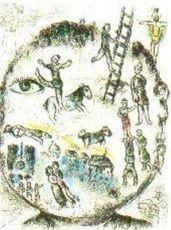 """Plate 5 (""""Celui qui dit les Choses sans rien dire"""") by Marc Chagall"""