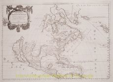 ONE OF THE EARLIEST MAPS of Anmerica TO DEPICT ALL 5 GREAT LAKES by Mariette, Pierre