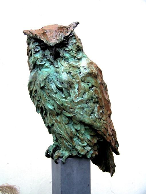 Eagle owl by Jacqueline van der Laan