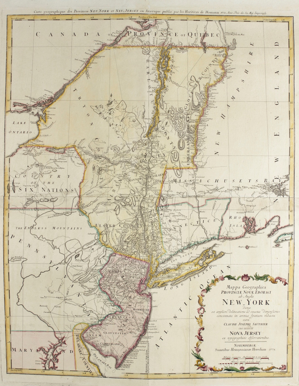 Map New York and New Jersey - Gallerease