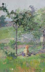 Sitting Girl, 1912 by Ernest Jean Joseph Godfrinon