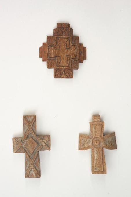 Three simple Byzantine bone crosses by Unknown Artist