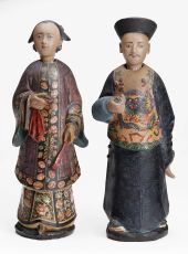 Pair of nodding-head figures  China/Canton, first half 19th century