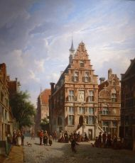 Townhall of Oudewater by Adrianus Eversen