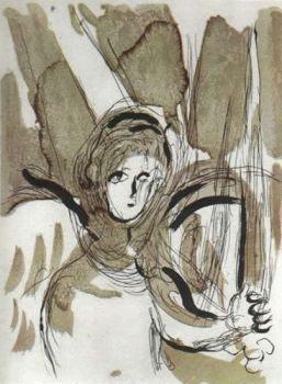 L'Ange à L'Épée by Marc Chagall