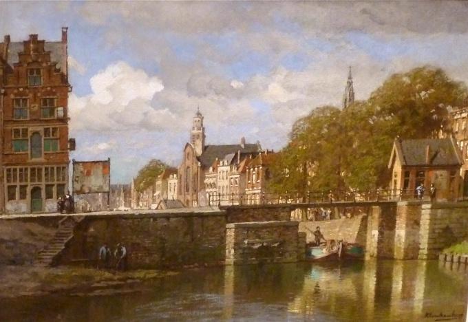 Rotterdam, Delfshaven with Pelgrimskerk, Holland by Johannes Christiaan Karel Klinkenberg