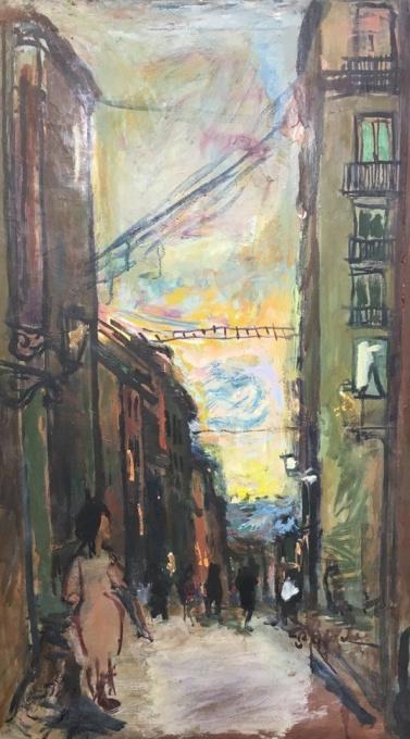 'Straatje te Madrid' ' by Pieter Defesche