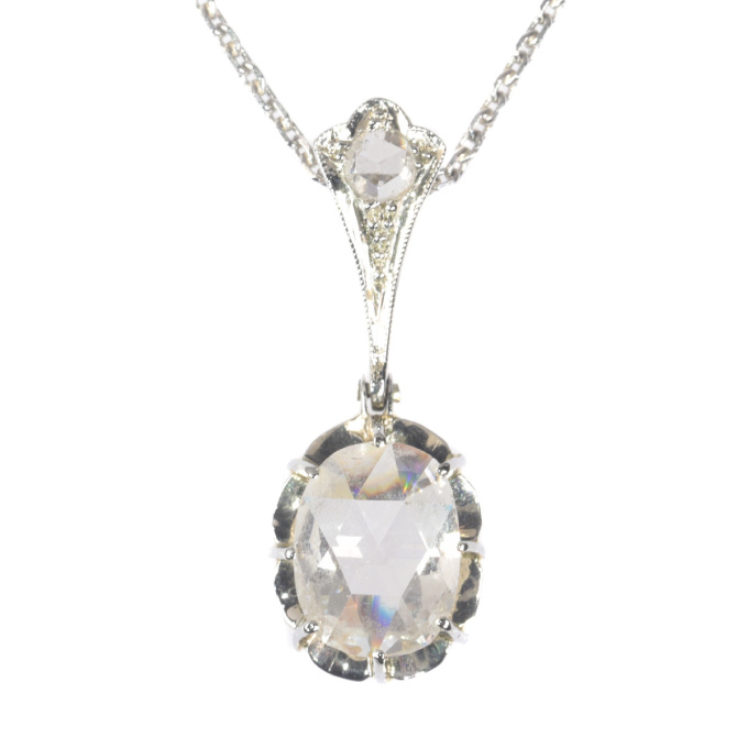 Art Deco pendant with large rose cut diamond by Unknown Artist