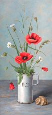 Still life with poppies by Annelies Jonkhart