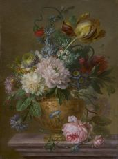 A flower still life I by Willem van Leen