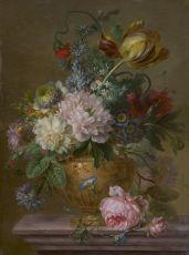 A flower still life I by Willem van Leen