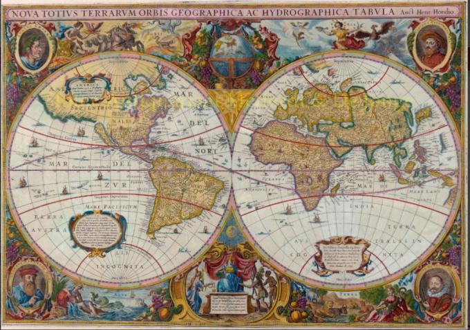 World Map by Hondius-Janssonius